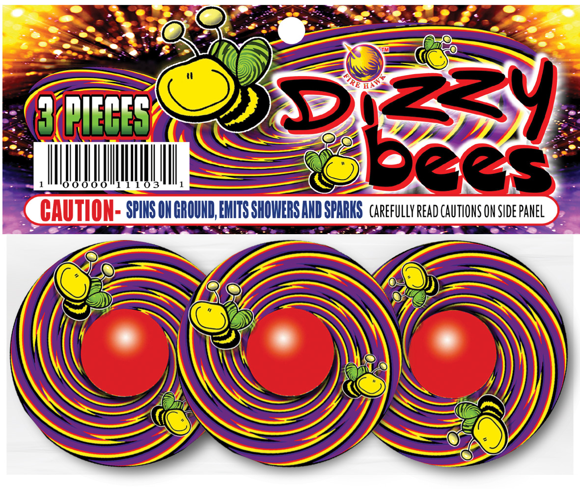 FB411 Dizzy Bees header card