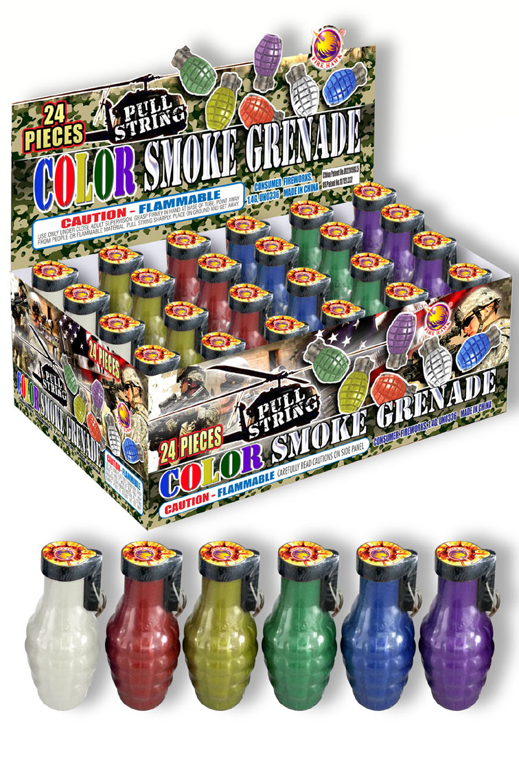 FB8526 Pull String Color Smoke Grenade