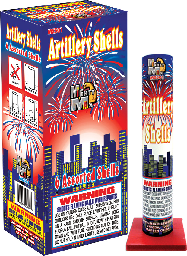 MX501 Assorted Color Artillery Shells copy