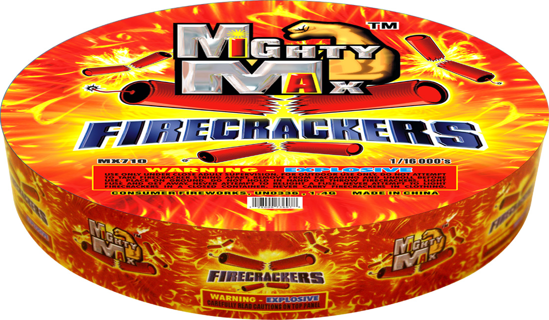 MX710 1-0.5 inch Mighty Max Firecrackers