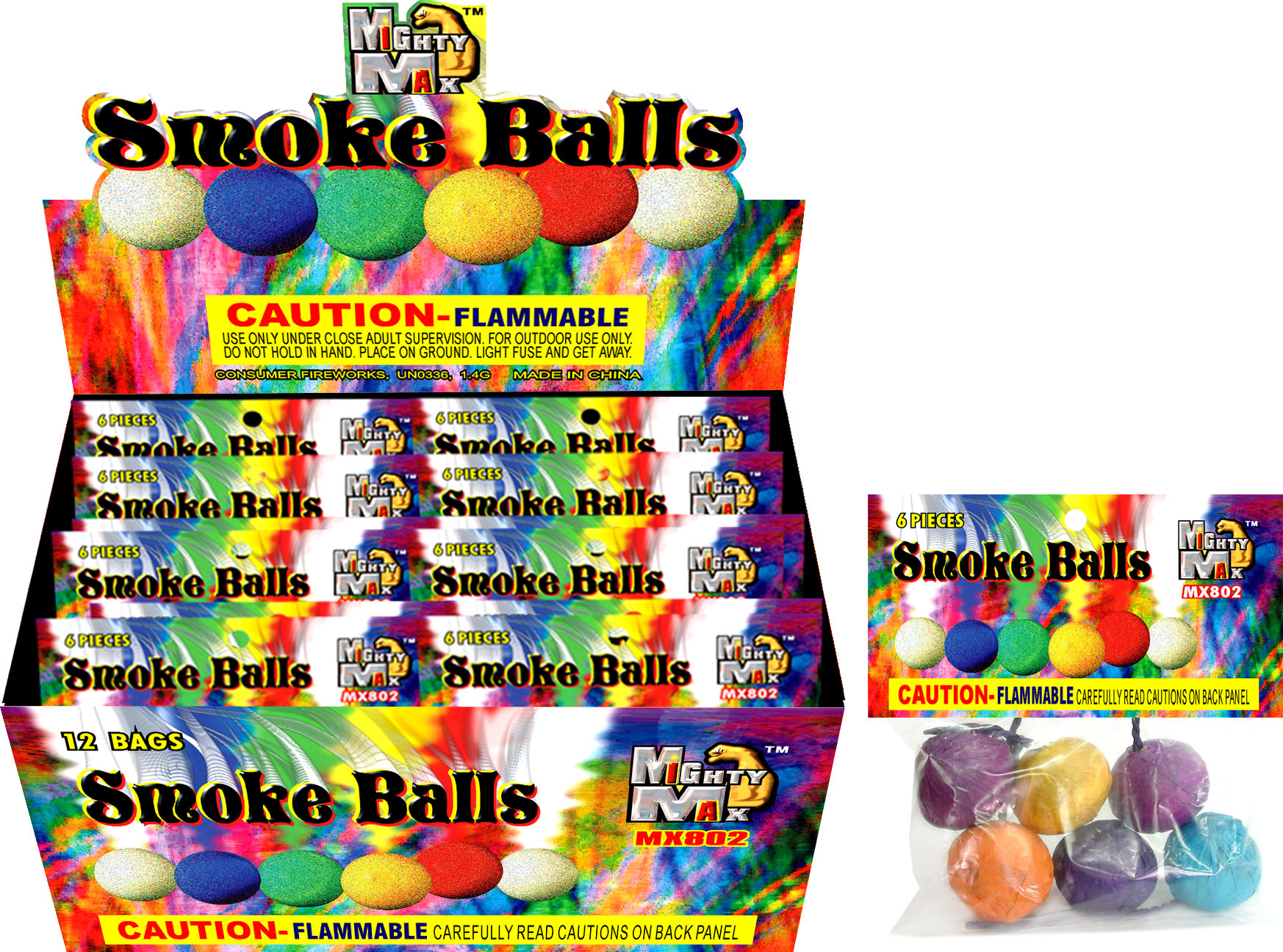 MX802 Color Smoke Balls