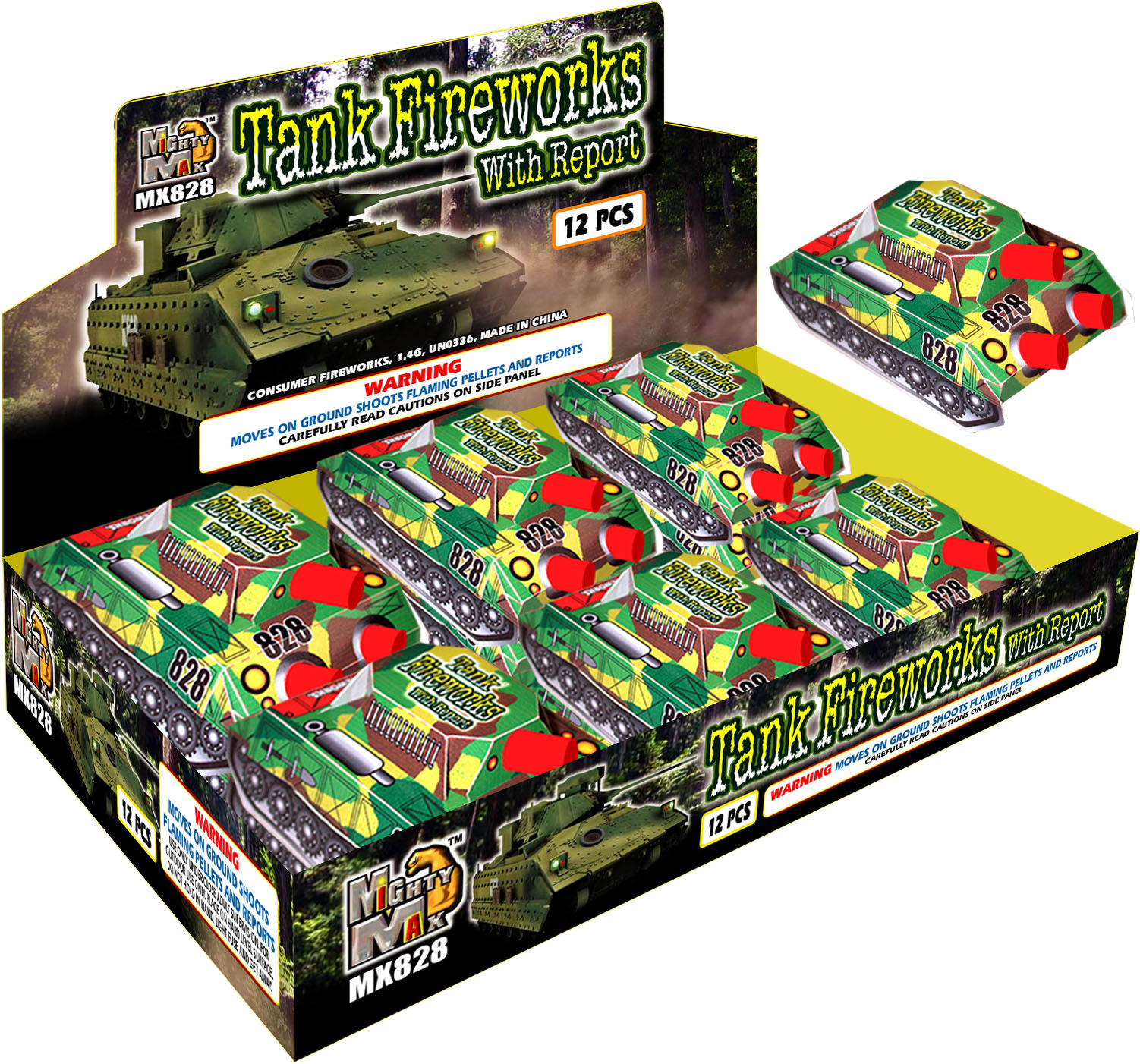 MX828 Tank Fireworks With Report