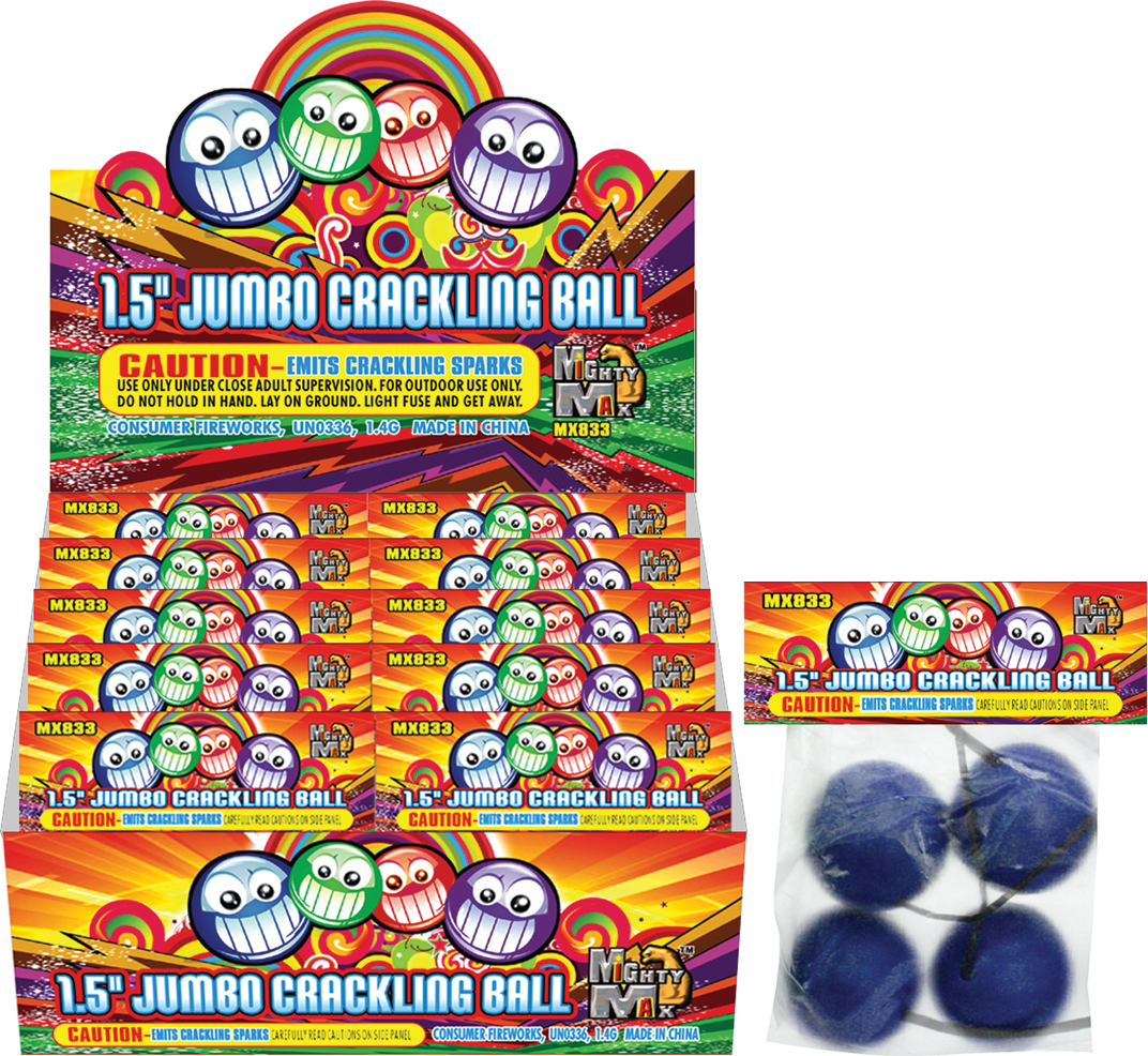 MX833 1.5 inch Jumbo Crackling Ball - 複製